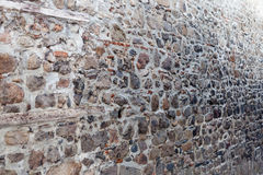 Old vintage stone wall. In perspective Stock Photo