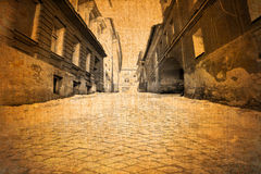 Old vintage street view Royalty Free Stock Photography