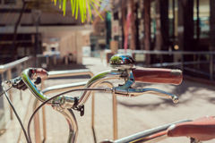 Old vintage style bicycle. Old fashioned vintage style bicycle parked in Adelaide City Royalty Free Stock Images