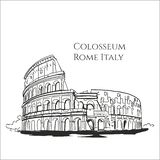 Colosseum Rome Italy sketch Vector royalty free illustration