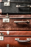 Old vintage suitcases background Stock Photos