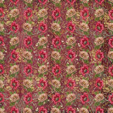 Old vintage tapestry flower wallpaper Royalty Free Stock Photos