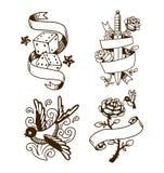 Old vintage tattoo vector illustration Stock Photo