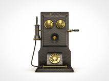 Old vintage telephone. Front view of old vintage telephone Stock Photos