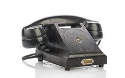 Old Vintage Telephone Isolated on White Background Royalty Free Stock Photography