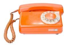 Old vintage telephone isolated on white background Stock Image
