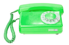 Old vintage telephone isolated on white background Royalty Free Stock Photos