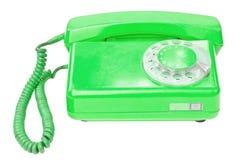 Old vintage telephone isolated on white background Royalty Free Stock Photos