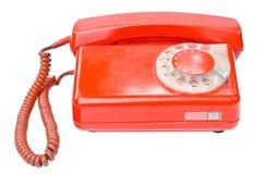 Old vintage telephone isolated on white background Royalty Free Stock Photo