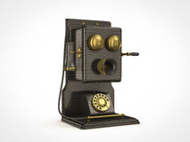 Old vintage telephone. Side view of old vintage telephone Stock Photography