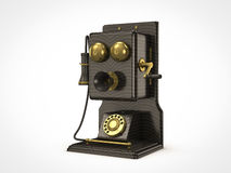 Old vintage telephone. Side view of old vintage telephone Royalty Free Stock Photos