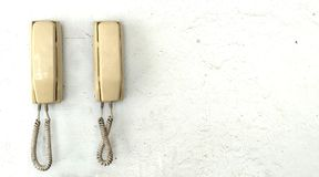 Old and vintage telephone. Stock Photography