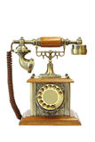 Old vintage telephone on white background Stock Images