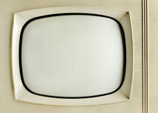 Old vintage television. Grunge background with copy space Stock Photos