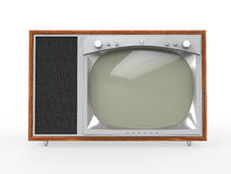 Old Vintage Television with Wooden Case Stock Photos