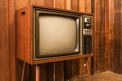 Old vintage television Stock Photography
