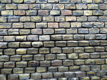 Old vintage textured brick wall background. Old vintage brick wall pattern Stock Images