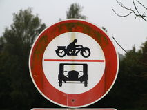 Old vintage traffic sign Stock Image
