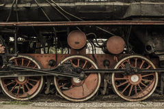 Old vintage train wheels Stock Photo