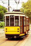 Old vintage tram in Milan Royalty Free Stock Image