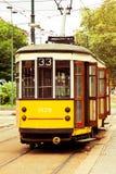 Old vintage tram in Milan Royalty Free Stock Image