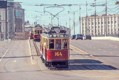 Old vintage trams. Stock Photography