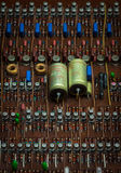 The old and vintage  transistors,copper wire, resistors Stock Photo
