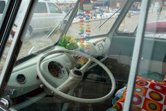 Old vintage travelling van Stock Images