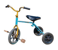 Old vintage tricycle children bicycle Royalty Free Stock Images