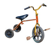 Old vintage tricycle children bicycle Stock Images