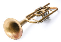 Old vintage trumpet Stock Photo
