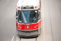 Old Vintage TTC streetcar or tram in Toronto Stock Image