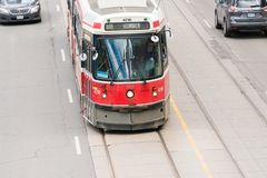 Old Vintage TTC streetcar or tram in Toronto Royalty Free Stock Image