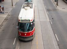 Old Vintage TTC streetcar or tram in Toronto Stock Photos