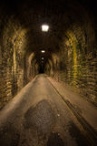 Old vintage tunnel in Biarritz at night Stock Images