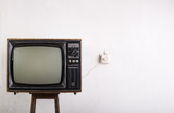 Old vintage TV Stock Photography
