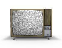Old vintage tv set with empty screen, template for any message Royalty Free Stock Image