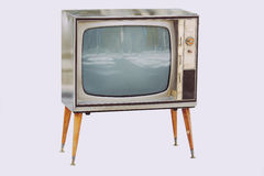 Old vintage tv Stock Image