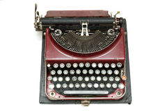 Old vintage type-writer. Isolated Royalty Free Stock Photo