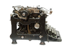 Old vintage type-writer. Isolated Stock Photo