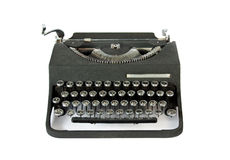 Old vintage typewriter. Old Italian vintage typewrite view from the front Stock Photos