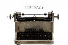 Old vintage typewriter with blank paper sheet Stock Images