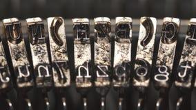 Old Vintage Typewriter, close-up. 4K UltraHD stock video