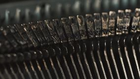 Old Vintage Typewriter, close-up. Old Vintage Typewriter, close-up, 4K UltraHD stock video footage