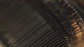 Old Vintage Typewriter, close-up. 4K UltraHD stock footage