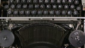Old vintage typewriter closeup footage. Old vintage typewriter close up footage background stock video