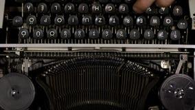Old vintage typewriter closeup footage slow motion from 120fps. Old vintage typewriter closeup footage in slow motion from 120fps stock footage
