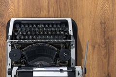 Old vintage typewriter closeup photo Royalty Free Stock Photo