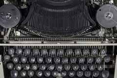 Old vintage typewriter closeup photo Royalty Free Stock Photos