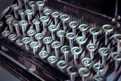 Old vintage typewriter. Cose up of old vintage typewriter Stock Photography